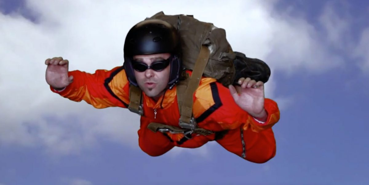 man sky diving for case study